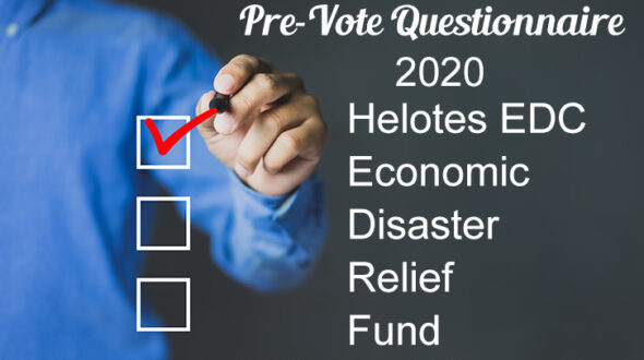 Helotes Economic Disaster Relief Fund Pre-Vote Questionnaire